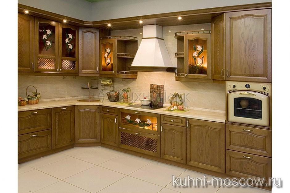 Кухня из массива дуба Альбина
