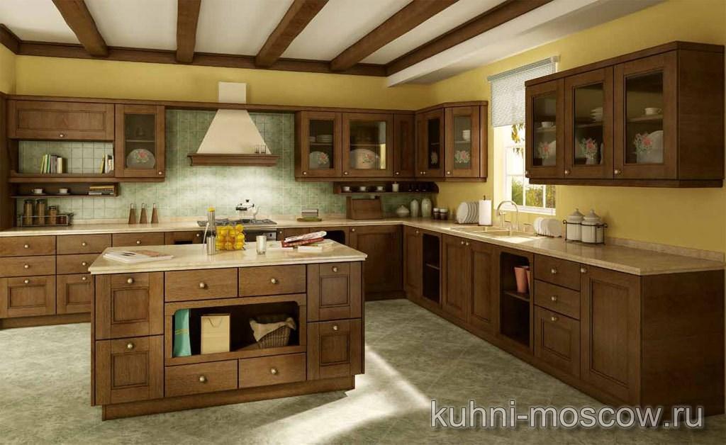 Кухня Трапеза из массива