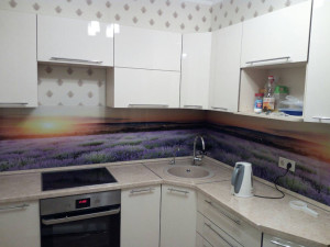Кухня из пластика белая