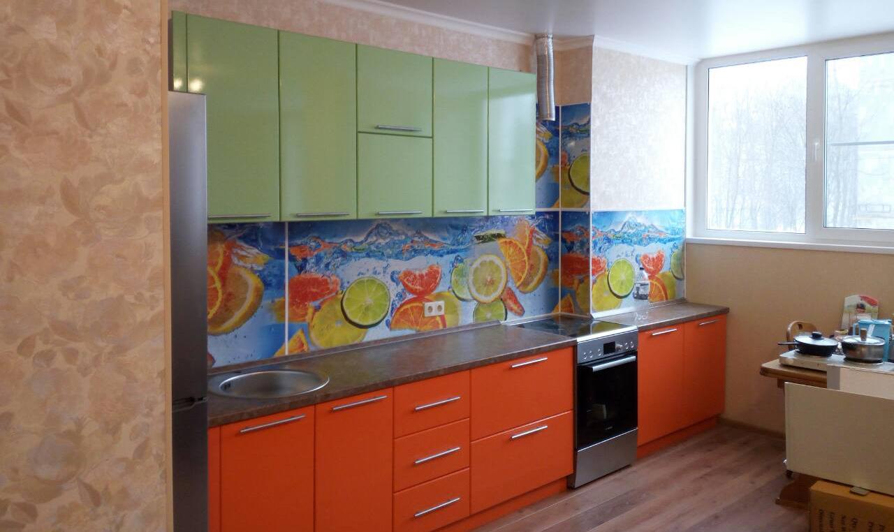 Кухня из пластика оранжевая