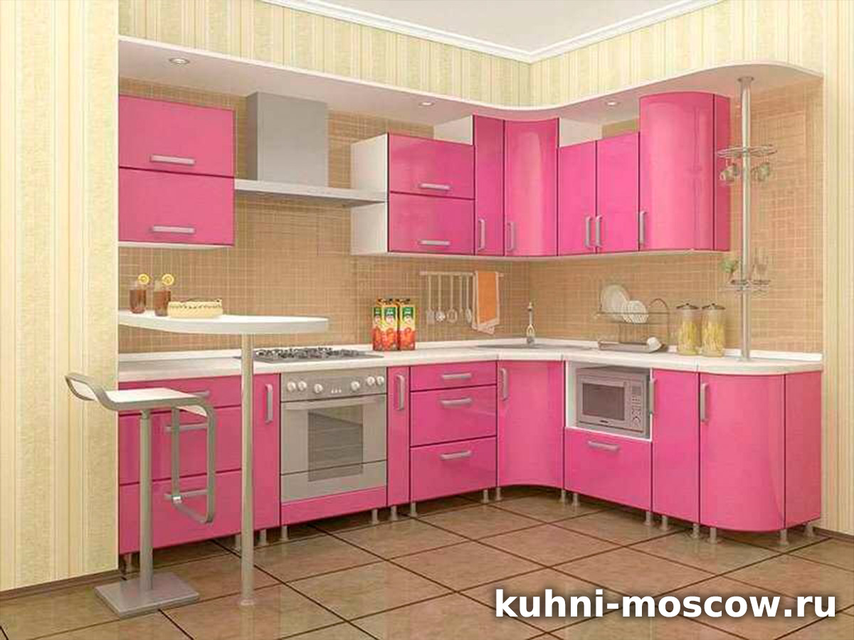 Розовая кухня Дария