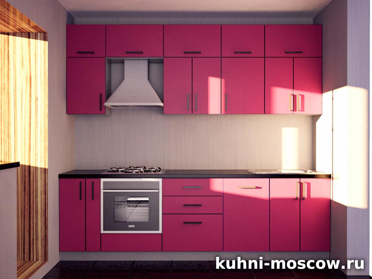кухонный гарнитур розовый