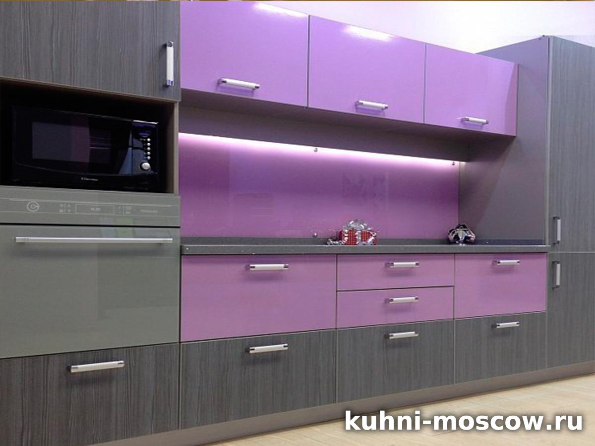 Фиолетовая кухня Амина