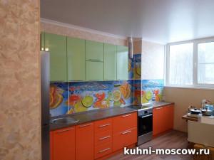 Кухня из пластика Яркая